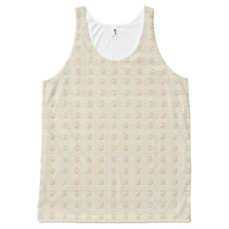 Dressy-Floral-Beige-Women's-Tanks-S-XL All-Over Print Tank Top
