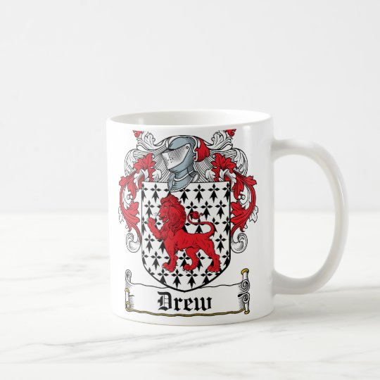 Drew Family Crest Coffee Mug
