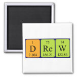 Drew periodic table name magnet square magnet
