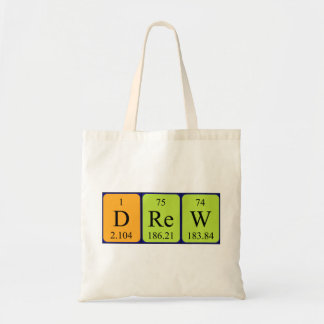 Drew periodic table name tote bag