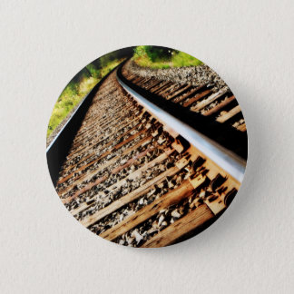Drew Sullivan -  Railroad Tracks 6 Cm Round Badge