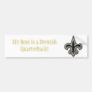 Drewish Quarterback Bumper Sticker