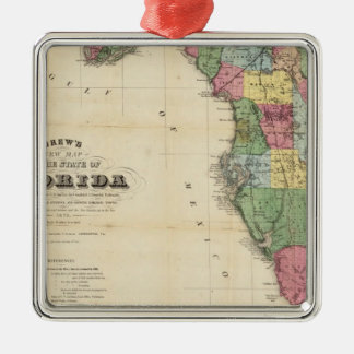 Drew's New Map Of The State Of Florida Christmas Ornament