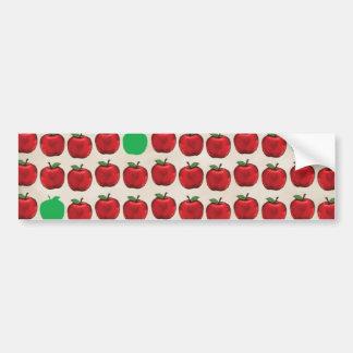 DRGA DELICIOUS RED GREEN APPLES FRUITS HEALTHY REA BUMPER STICKER