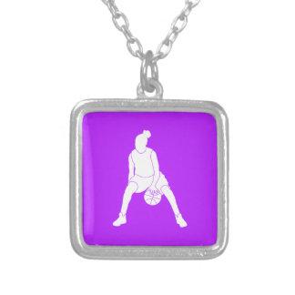 Dribble Necklace  Purple