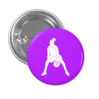 Dribble Silhouette Button Purple