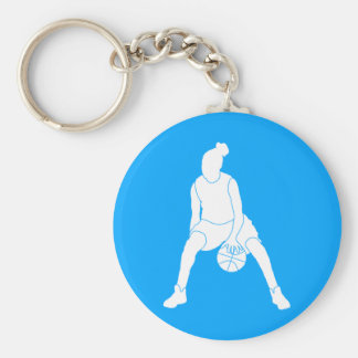 Dribble Silhouette Keychain Blue