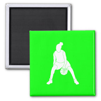 Dribble Silhouette Magnet Green