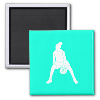 Dribble Silhouette Magnet Turquoise