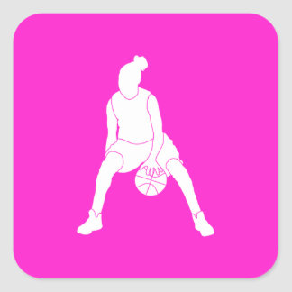 Dribble Silhouette Sticker  Pink