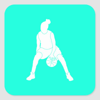 Dribble Silhouette Sticker  Turquoise