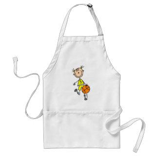 Dribbling Girl Basketball Tshirts and Gifts Apron