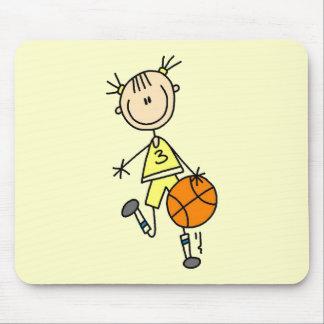 Dribbling Girl Basketball Tshirts and Gifts Mouse Pad