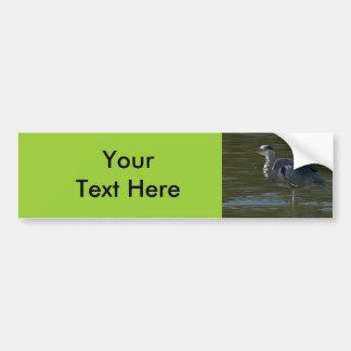 Dribbling Heron Bumper Sticker