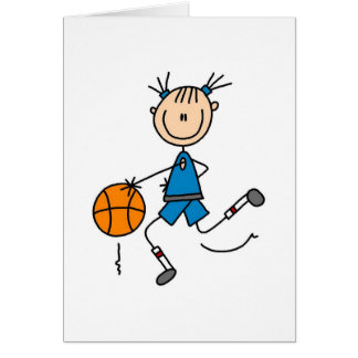 Dribbling The Basketball Card