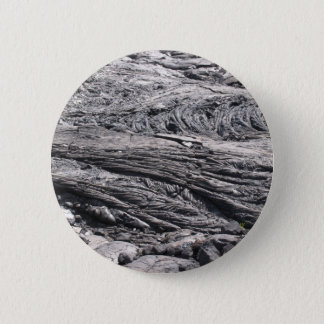 Dried Black Lava in Hawaii 6 Cm Round Badge