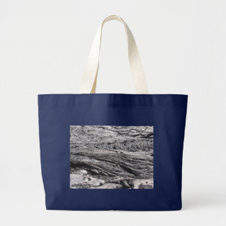Dried Black Lava in Hawaii Large Tote Bag