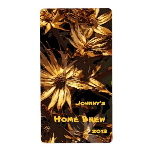 Dried Flower Beer Label Shipping Label