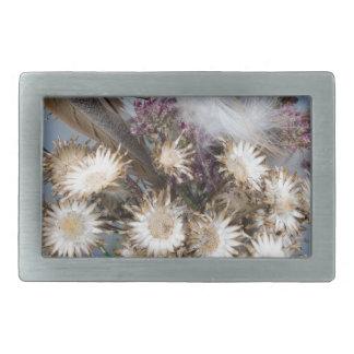 Dried flowers 1 rectangular belt buckle