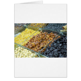 Dried fruit and nuts greeting card