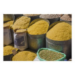 Dried pasta and beans for sale, Marrakech, 2 Poster