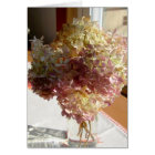 Dried Pink and Cream Hydrangea Blank Note Card