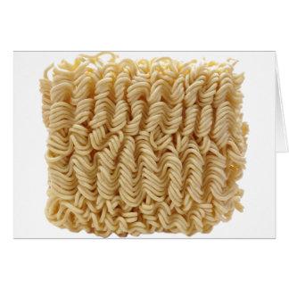 Dried ramen noodles card