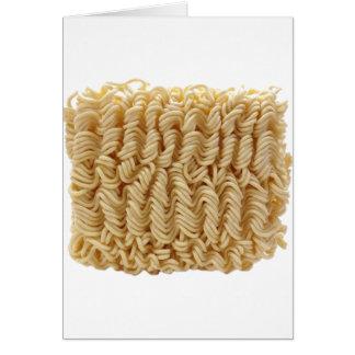 Dried ramen noodles greeting card