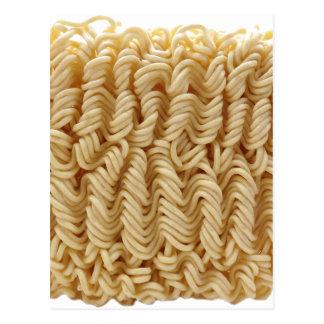 Dried ramen noodles postcard