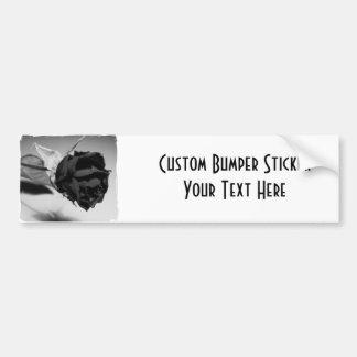 Dried Rose Photograph - Black & White Bumper Sticker