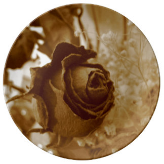 Dried Rose Plate