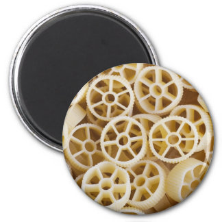 Dried Rotelle Pasta Greeting 6 Cm Round Magnet
