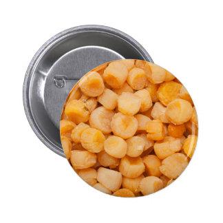 Dried scallops 6 cm round badge