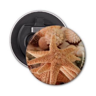 Dried sea stars sold as souvenirs bottle opener