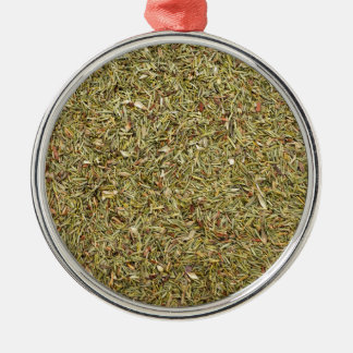 dried thyme texture christmas ornament