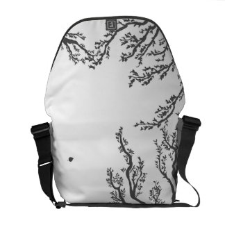 dried tree branches with birds and leaves commuter bag