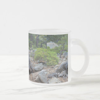 Dried Tree Trunk In The Forest Frosted Glass Mug