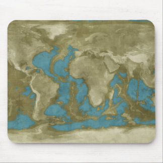Dried World Map Mouse Pad