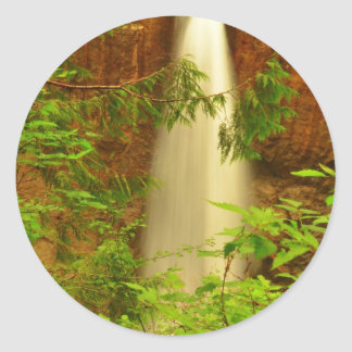 drift creek falls.JPG Round Sticker