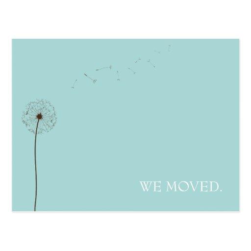 drift:  moving announcement post card