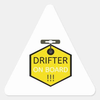 Drifter On Board Slap Sticker