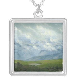 Drifting Clouds Silver Plated Necklace