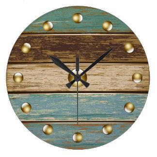 Driftwood 3 Wall Clock
