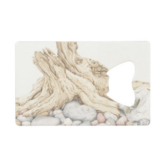 Driftwood and Pebbles in Pencil Bottle Opener