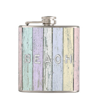 Driftwood Beach Hip Flask