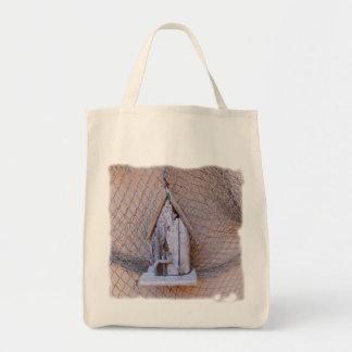 Driftwood Birdhouse Tote Bag