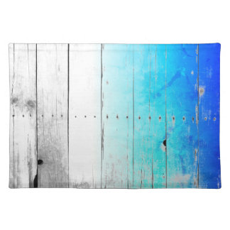 Driftwood Blue Painted Wood Weathered Nautical Placemat