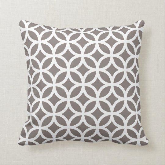 Driftwood Brown Geometric Pattern Pillow