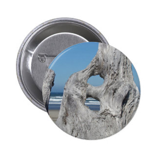 Driftwood buttons Blue Ocean Coastal Beach waves