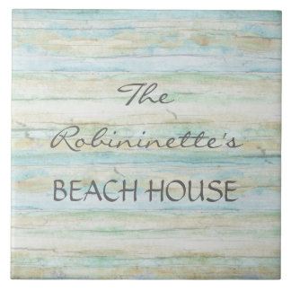 Driftwood Ocean Beach House Coastal Seashore Tile